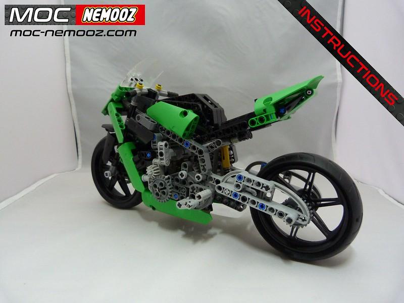 LEGO MOC-23936 KAWASAKI ZX10 R (Technic 2019) | Rebrickable - Build