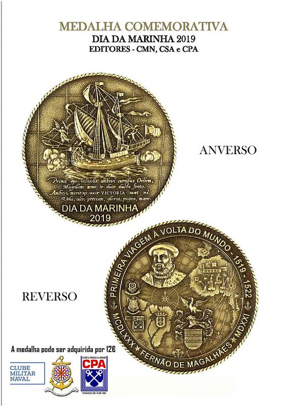Cartaz medalha Marinha 2019