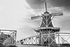 molen Dokkum zwart-wit