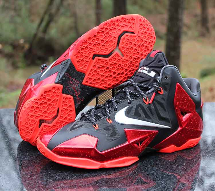 a051ac401e01 ... Nike LeBron 11 XI Miami Heat Away 808709-108 Black Red Men s Size 11