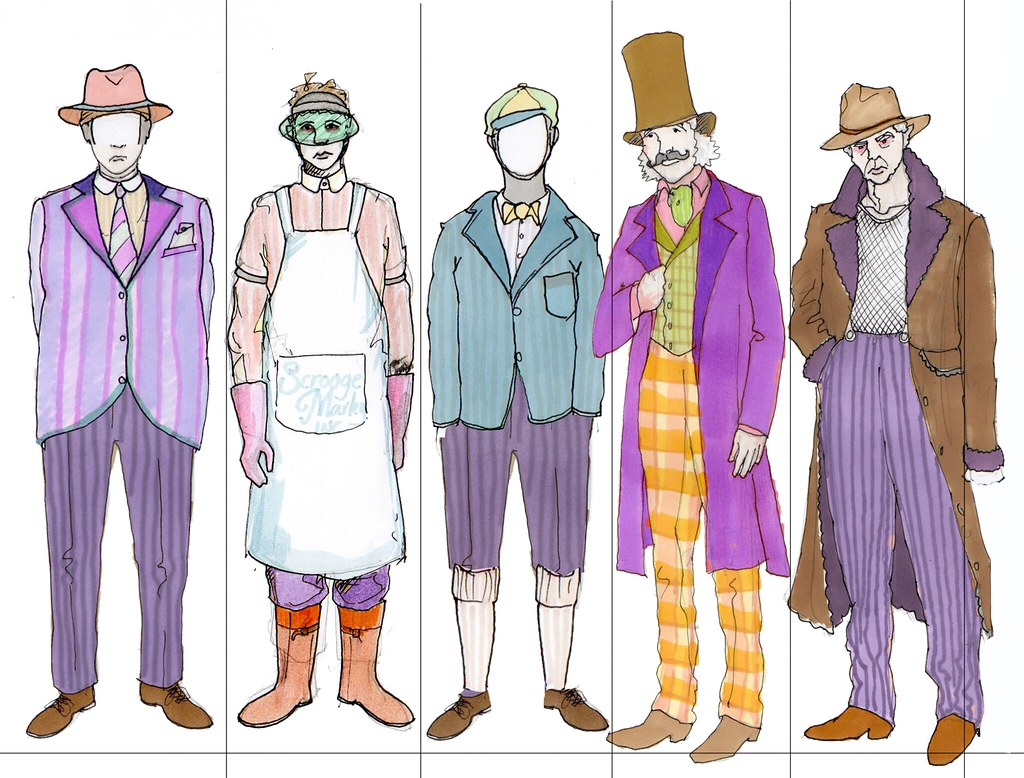 A Christmas Carol Characters.17 A Christmas Carol Costume Sketches Male Characters