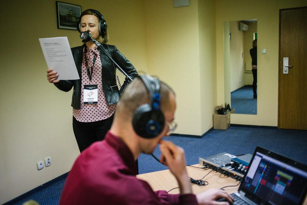 """Justyna Ostropolska nagrywa fragment nowej superprodukcji Audioteki """"Sierżant Cuff 2"""""""