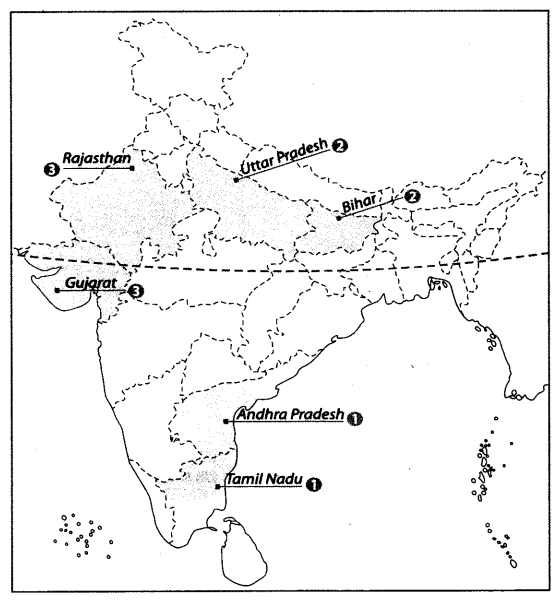 Class 10 Geography Map Work Chapter 4 Agriculture A7