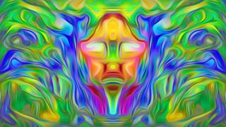 Bildschichten Beten 56 in Meditation versunken