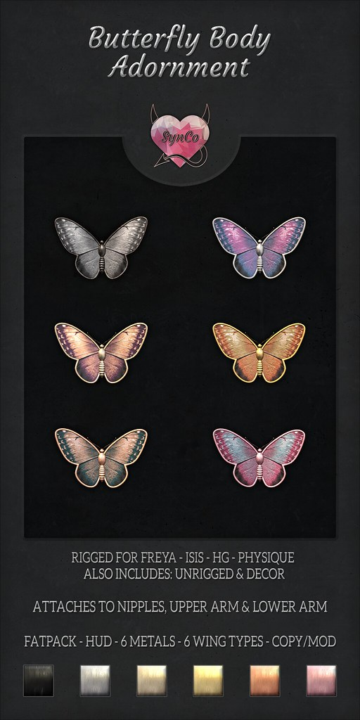 SynCo – Butterfly Body Adornments
