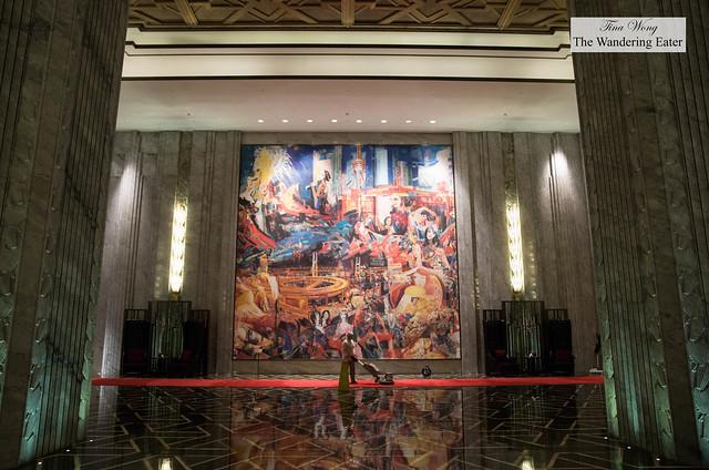 Huge mosaic at the lobby