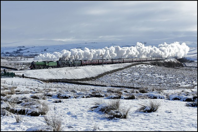 Greenholme, B1 61306 'Mayflower' & 35018 'British India Line' RYTC 'Winter Cumbrian Mountain Express' 02/02/19.