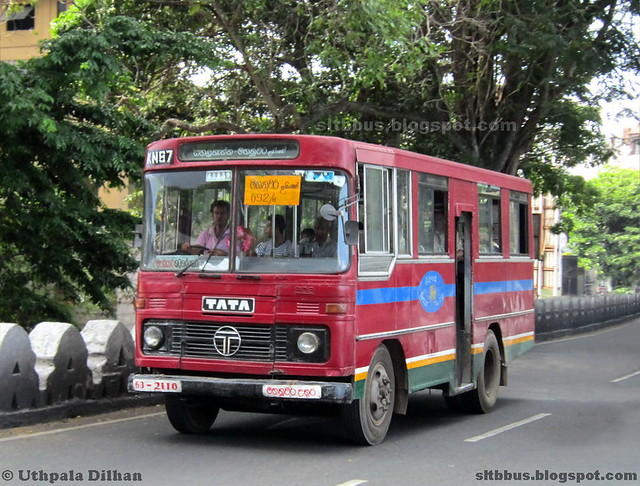 Ruby bodied TATA LP 909/36 bus from SLTB Kandy North depot