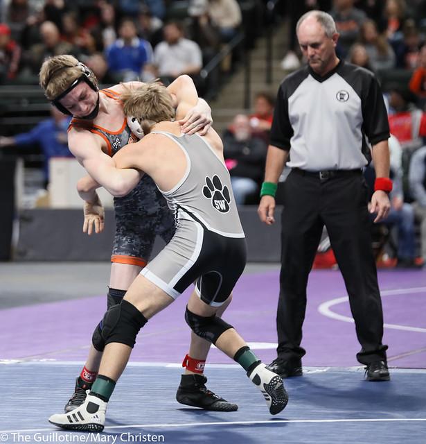 126AA 3rd Place Match - Justin Stauffacher (Scott West) 46-6 won in tie breaker - 1 over Kyle Boeke (Princeton) 44-5 (TB-1 2-1). 190302BMC3670