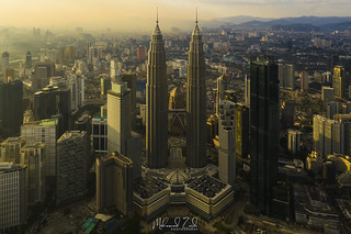 An Aerial Shot Of Kuala Lumpur During Golden Hour | by Mohamad Zaidi Photography