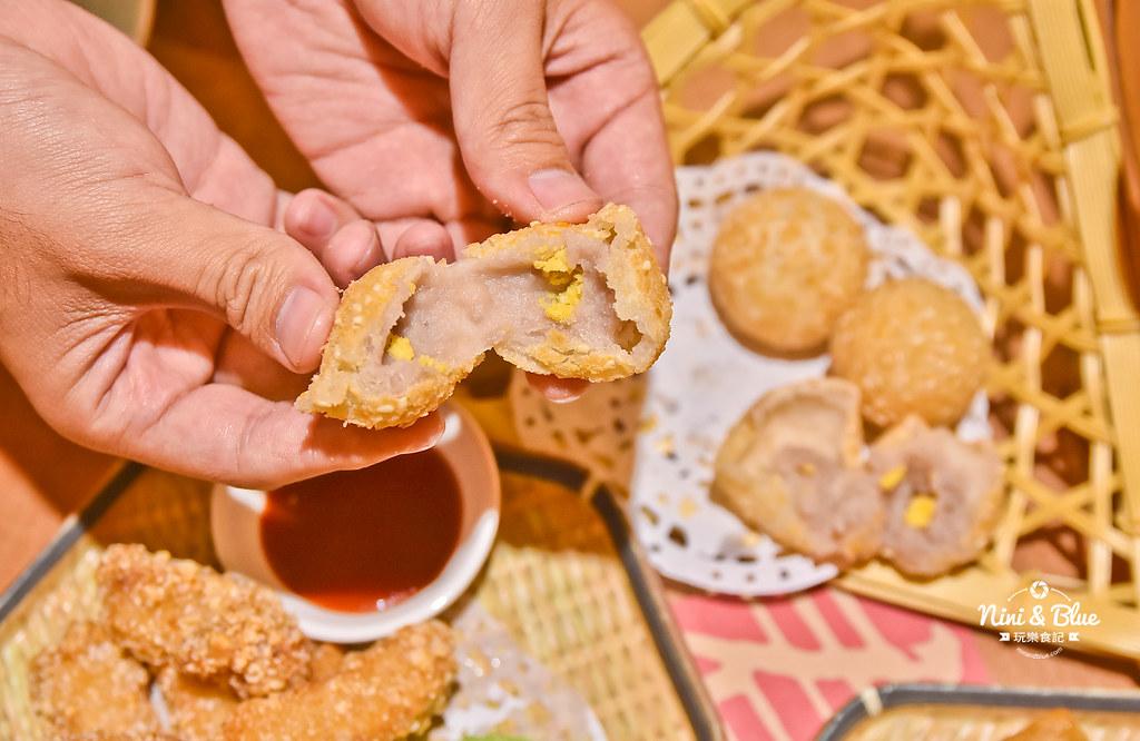 台中大墩美食|蛋黃麻糬芋丸$60