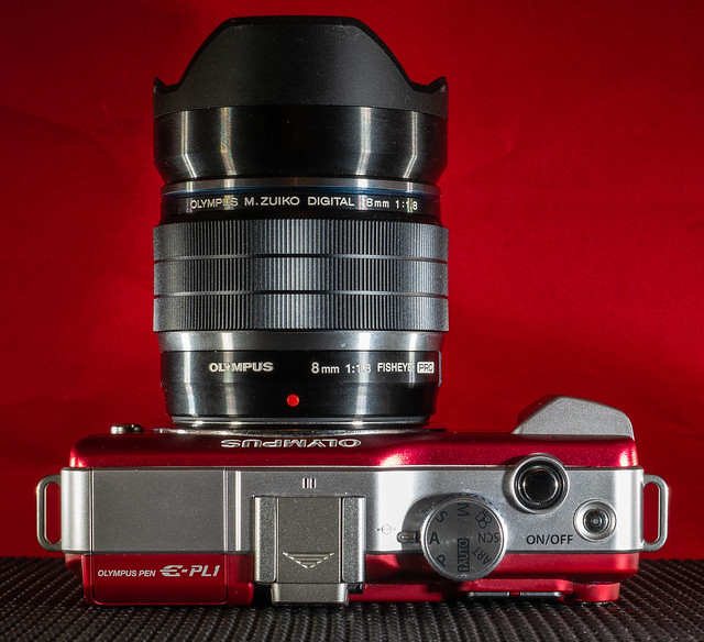 M-zuiko 8mm f1.8 pro fish eye prime lens with . . .