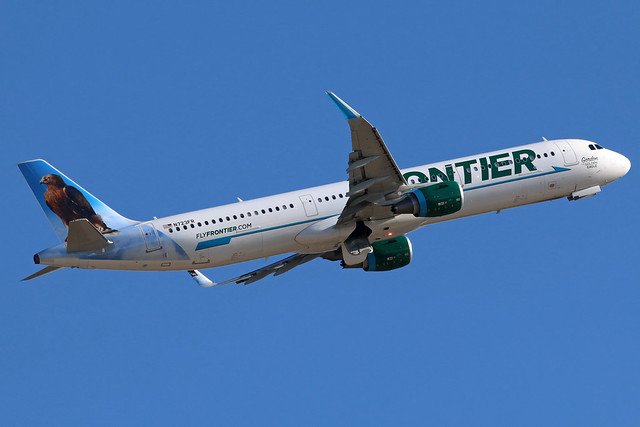 N723FR FRONTIER A321-211SL at KCLE