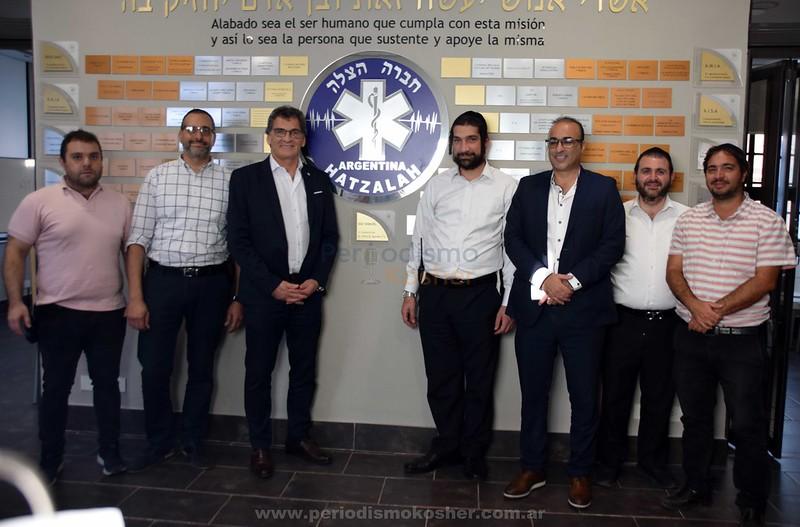 Jorge Avruj visitó la base Jevra Hatzalah Argentina