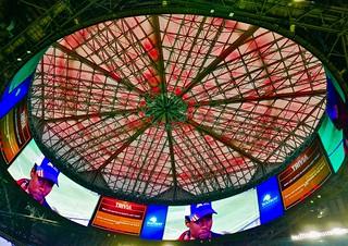Roof of Mercedes Benz Stadium, Atlanta