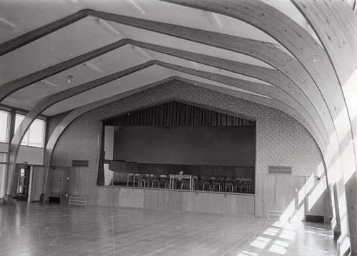 Mairehau Post Primary School, Christchurch interior of hall GA7639 (1960) | by Archives New Zealand