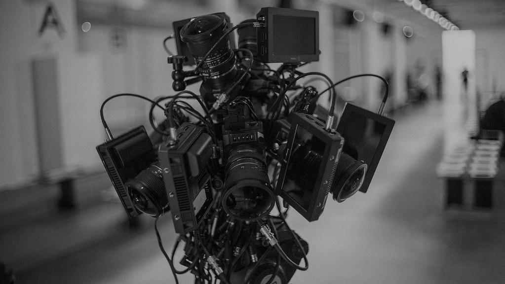Camera set up to create virtual reality.