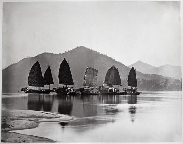 Hotz collection: Guangzhou junks, ca. 1870