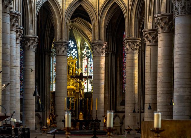 Interior of the Cathédrale Notre-Dame de Rouen: View towards the Crypte, Rouen, France-37a