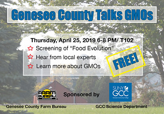 Thu, 04/11/2019 - 09:34 - The Genesee County Talks GMOs Graphic, courtesy of GCC