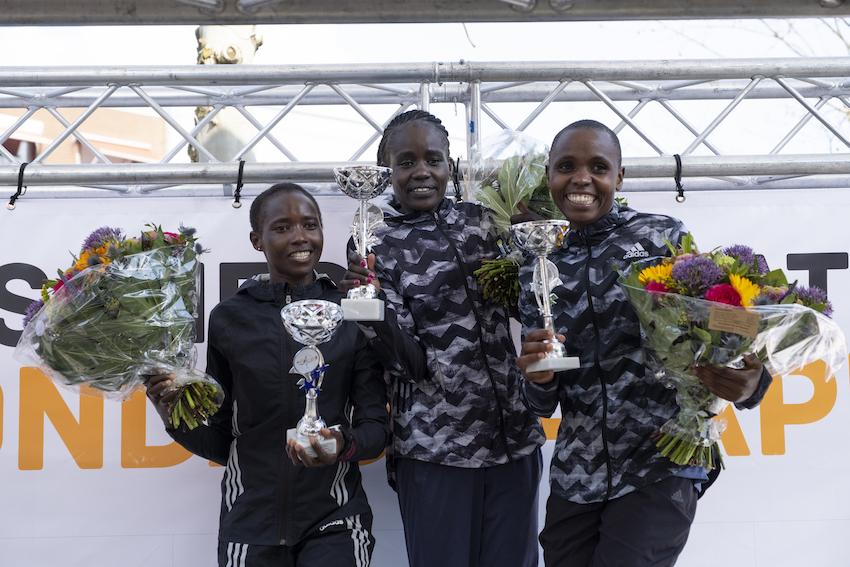 Podium dames marathon