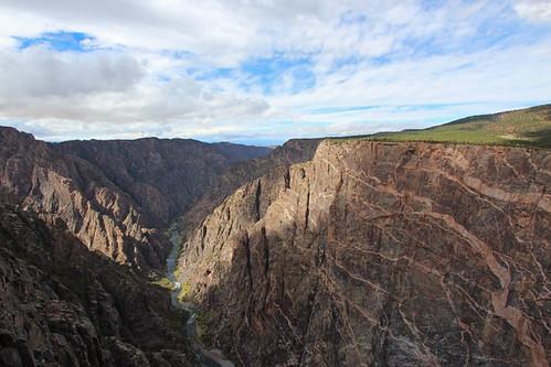 black canyon gunnison national park colorado co landscape october 2018 south rim view fall autumn dragon point travel