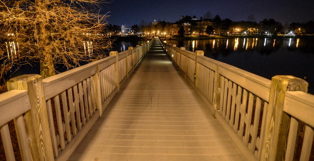 Saratoga Springs bridge night