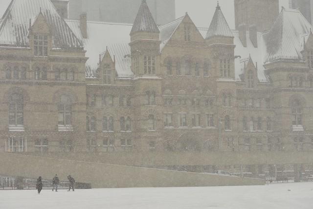 Old City Hall, Toronto H-E-A-V-Y  S-N-O-W