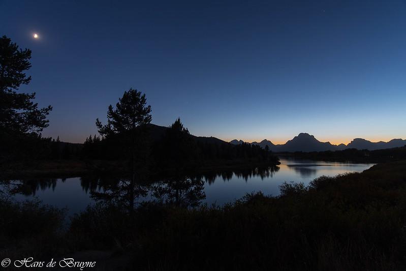 Night view on Grand Teton