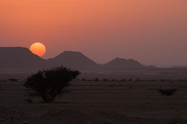 Sunset at Qiddiya