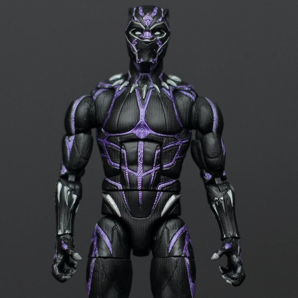 Black Panther Marvel Legends Action Figure Black Panther Vibranium Hasbro