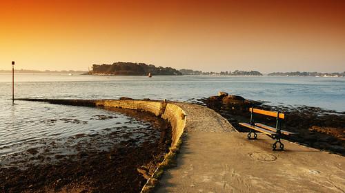 travel landscape brittany architecture sunrise sunset sea ocean