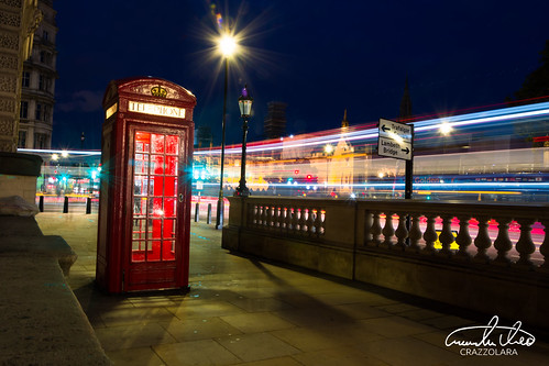 London Telephone Box in traffic | by Theo Crazzolara