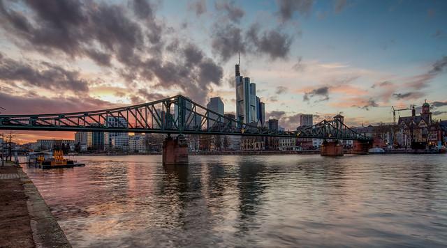 The Eiserner Steg bridge / Frankfurt / Germany
