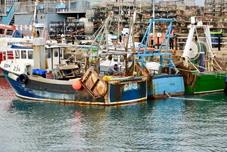 Hard worked fishing boats in Brixham harbour | by Dave_S.