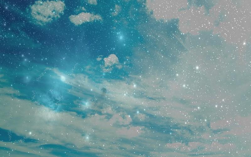 Обои небо, звезды, фон, светлый, абстракция картинки на рабочий стол, фото скачать бесплатно