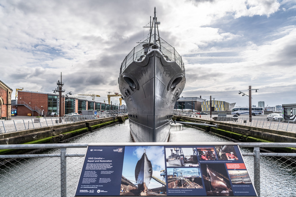 THE HMS CAROLINE ENTERED SERVICE IN 1914 AND NOW IT IS A FLOATING MUSEUM IN BELFAST 011