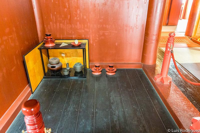 Utensilios para la ceremonia del té
