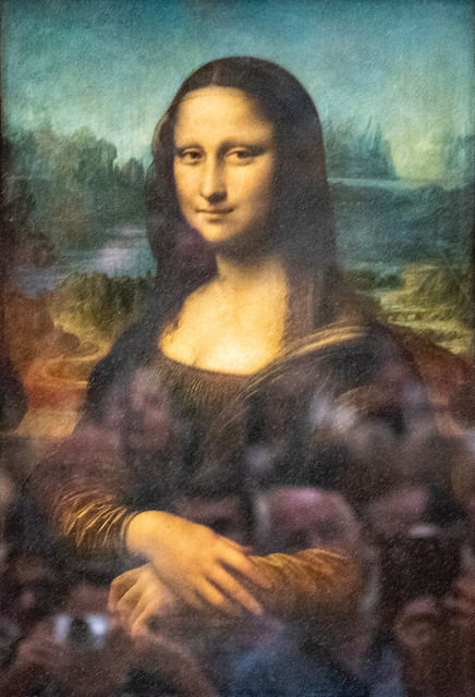 Mona Lisa (and museum goers), Leonardo da Vinci