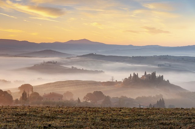 *Golden morning in Val d'Orcia*