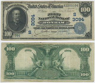 United States $100.00 (one hundred dollars) national currency