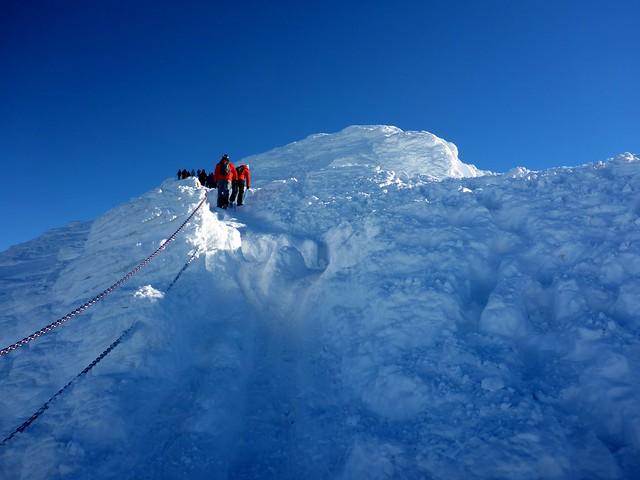 auf dem Gipfel der Schneekoppe