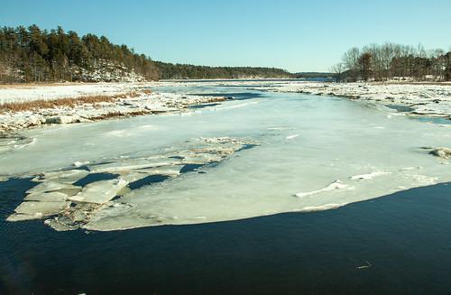 maine phippsburg cuttingcreek ice winter