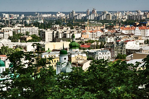 2008. View of Podil from Castle Hill. Kyiv. Ukraine. | by valery_pokotylo