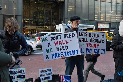 Protest at Trump Tower, New York City, 29 December 2018