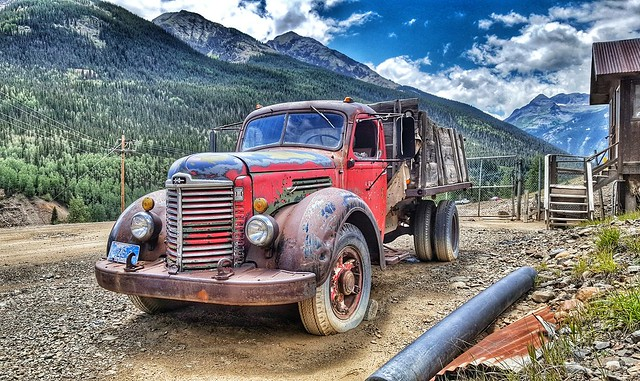 Old truck outside Silverton, CO