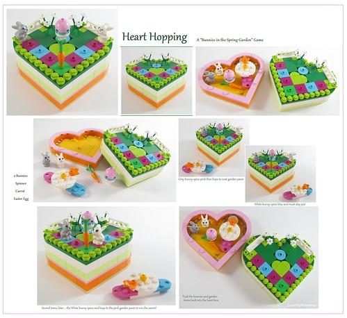 """Heart Hopping ~ A """"Bunnies in the Spring Garden"""" Game"""