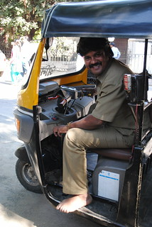 Rickshaw Driver at Pune, India
