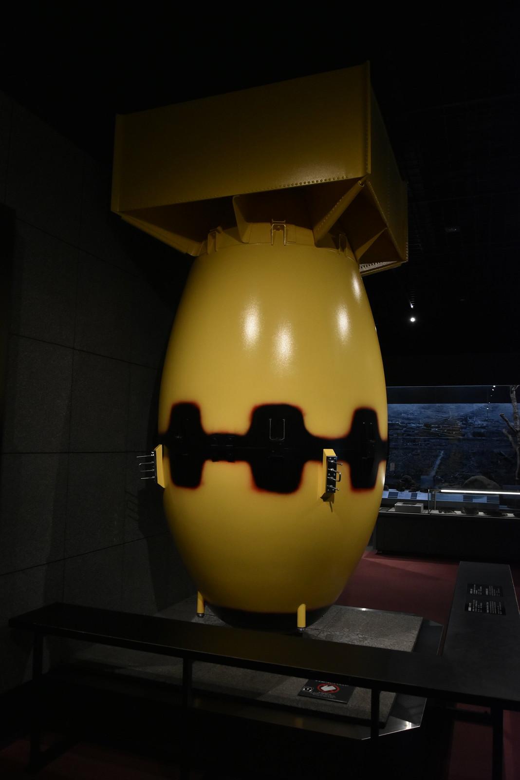 Nagasaki - reproduction de fat man, la bombe
