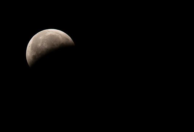 Partial eclipse.